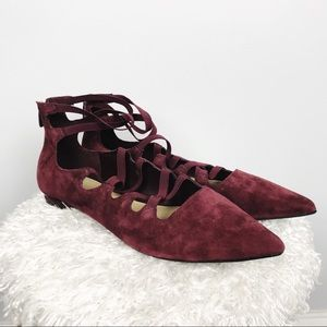 Marc Fisher Annabeth Lace Up Flats
